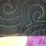 Circle Echo Stitch - quilting by Maria Denise Hall