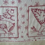 custom quilted hand embroidery quilt