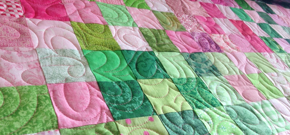 All over flower quilting